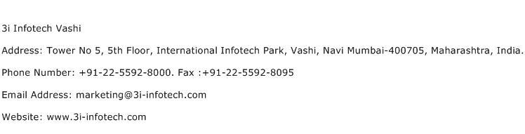 3i Infotech Vashi Address Contact Number