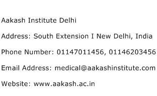 Aakash Institute Delhi Address Contact Number
