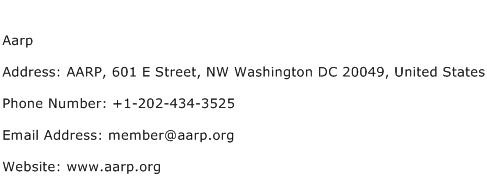 Aarp Address Contact Number