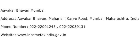 Aayakar Bhavan Mumbai Address Contact Number