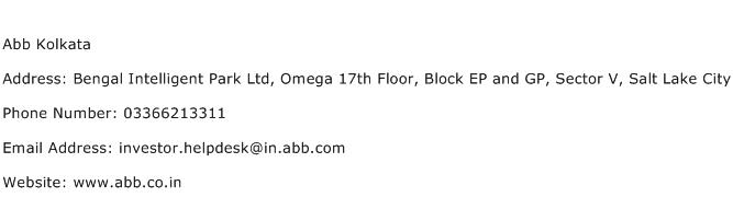 Abb Kolkata Address Contact Number