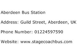 Aberdeen Bus Station Address Contact Number