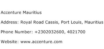 Accenture Mauritius Address Contact Number