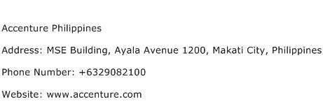 Accenture Philippines Address Contact Number