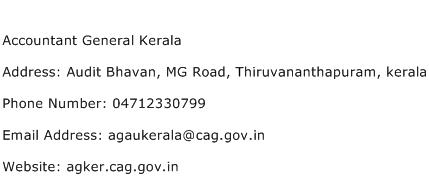 Accountant General Kerala Address Contact Number