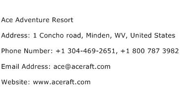 Ace Adventure Resort Address Contact Number