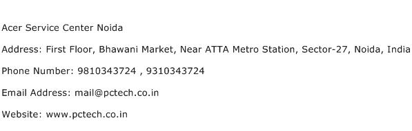 Acer Service Center Noida Address Contact Number