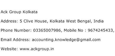Ack Group Kolkata Address Contact Number
