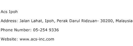Acs Ipoh Address Contact Number
