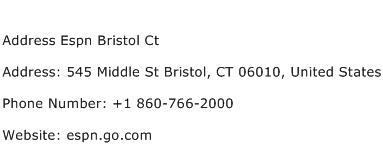 Address Espn Bristol Ct Address Contact Number