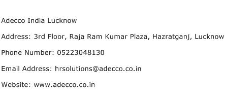 Adecco India Lucknow Address Contact Number