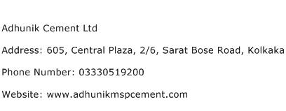 Adhunik Cement Ltd Address Contact Number