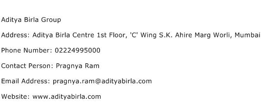 Aditya Birla Group Address Contact Number