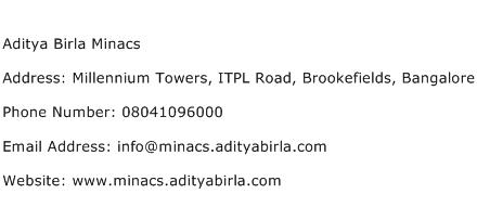 Aditya Birla Minacs Address Contact Number