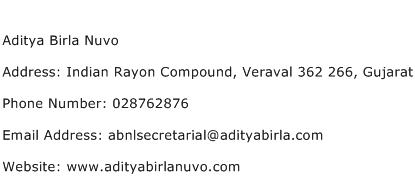Aditya Birla Nuvo Address Contact Number