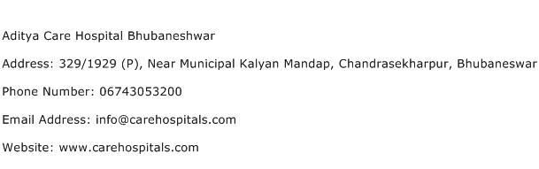 Aditya Care Hospital Bhubaneshwar Address Contact Number
