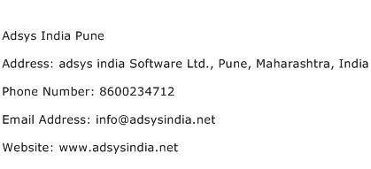 Adsys India Pune Address Contact Number