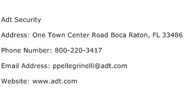 Adt Security Address Contact Number