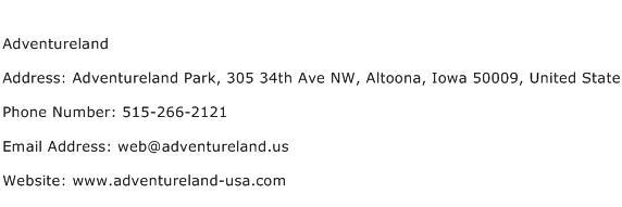 Adventureland Address Contact Number