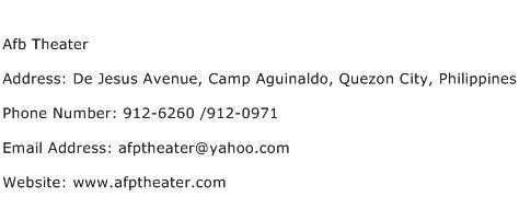 Afb Theater Address Contact Number