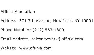 Affinia Manhattan Address Contact Number