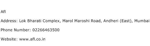 Afl Address Contact Number