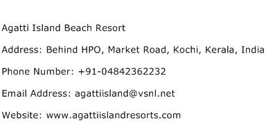 Agatti Island Beach Resort Address Contact Number