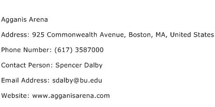 Agganis Arena Address Contact Number