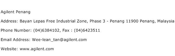 Agilent Penang Address Contact Number