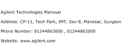 Agilent Technologies Manesar Address Contact Number