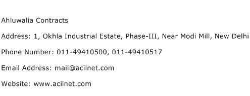 Ahluwalia Contracts Address Contact Number