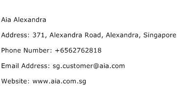 Aia Alexandra Address Contact Number
