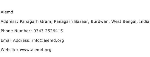 Aiemd Address Contact Number