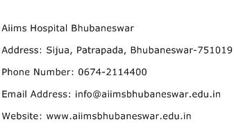 Aiims Hospital Bhubaneswar Address Contact Number