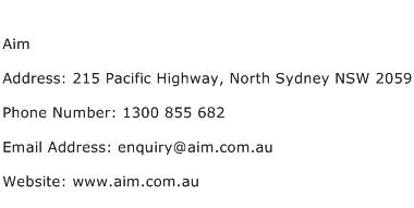 Aim Address Contact Number