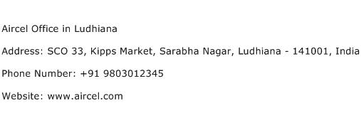 Aircel Office in Ludhiana Address Contact Number