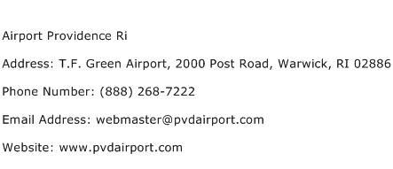 Airport Providence Ri Address Contact Number