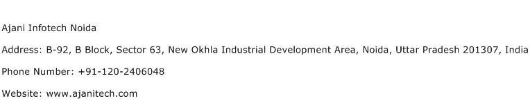 Ajani Infotech Noida Address Contact Number