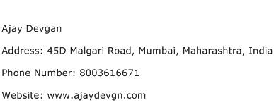 Ajay Devgan Address Contact Number