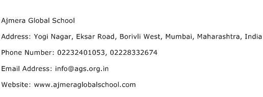 Ajmera Global School Address Contact Number