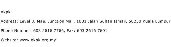 Akpk Address Contact Number