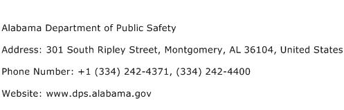 Alabama Department of Public Safety Address Contact Number