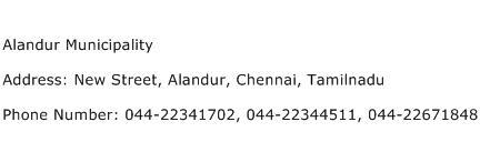Alandur Municipality Address Contact Number