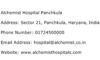 Alchemist Hospital Panchkula Address Contact Number