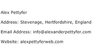 Alex Pettyfer Address Contact Number