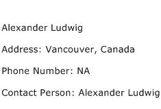 Alexander Ludwig Address Contact Number