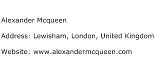 Alexander Mcqueen Address Contact Number