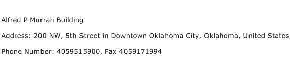 Alfred P Murrah Building Address Contact Number