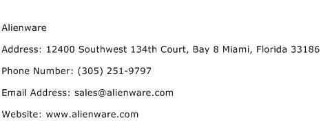 Alienware Address Contact Number