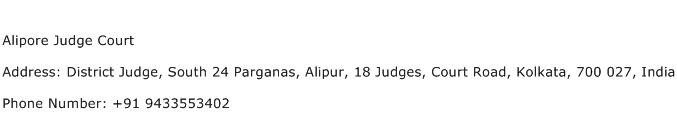 Alipore Judge Court Address Contact Number